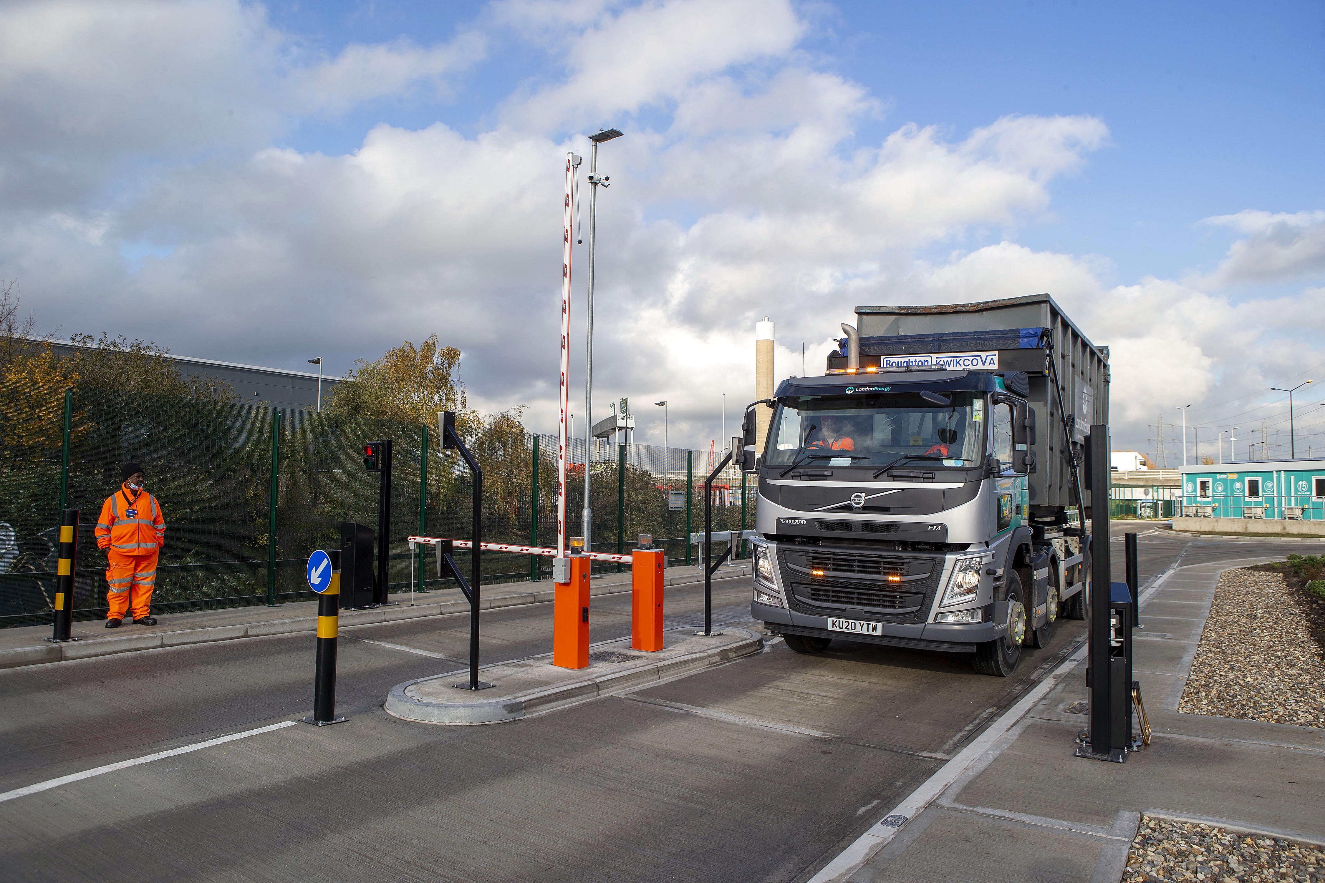 Entry and exit point for LondonEnergy vehicles into and out of the new Transport Yard
